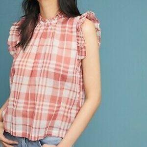 ISABELLA SINCLAIR Anthropologie NWT plaid blouse